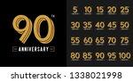 set of anniversary logotype.... | Shutterstock .eps vector #1338021998