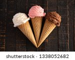 three classic flavors of ice... | Shutterstock . vector #1338052682