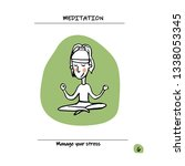 how to manage stress  reduce... | Shutterstock .eps vector #1338053345