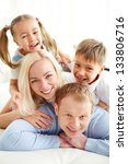 portrait of happy family... | Shutterstock . vector #133806716