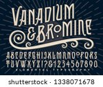 vanadium and bromine alphabet... | Shutterstock .eps vector #1338071678
