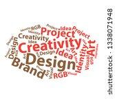 text cloud. design wordcloud.... | Shutterstock .eps vector #1338071948