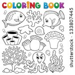 Coloring Book Coral Reef Theme...