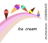 collection of ice cream  sweet  ... | Shutterstock .eps vector #1338086435
