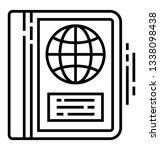 atlas book  line vector icon | Shutterstock .eps vector #1338098438