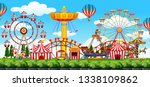 a theme park scene illustration | Shutterstock .eps vector #1338109862