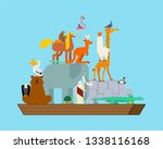 Noah Ark And Animals. Pairs Of...