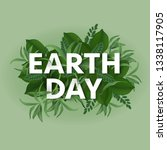 earth day. eco friendly ecology ... | Shutterstock .eps vector #1338117905