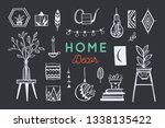 home decor and house plants... | Shutterstock .eps vector #1338135422