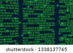 abstract futuristic cyberspace... | Shutterstock .eps vector #1338137765
