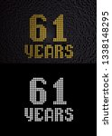 golden number sixty one years ... | Shutterstock . vector #1338148295