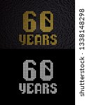 golden number sixty years ... | Shutterstock . vector #1338148298