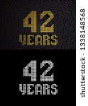 golden number forty two years ... | Shutterstock . vector #1338148568