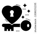 glyph design of love key    Shutterstock .eps vector #1338151235