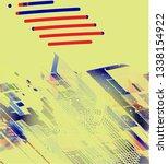 abstract vector background dot... | Shutterstock .eps vector #1338154922