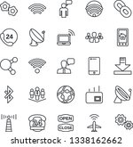 thin line icon set   plane... | Shutterstock .eps vector #1338162662