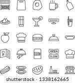 thin line icon set   coffee... | Shutterstock .eps vector #1338162665