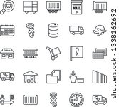 thin line icon set   railroad... | Shutterstock .eps vector #1338162692