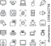 thin line icon set   wireless... | Shutterstock .eps vector #1338162758