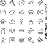 thin line icon set   spoon and... | Shutterstock .eps vector #1338164015