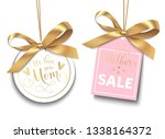 mothers day sale tag with... | Shutterstock .eps vector #1338164372