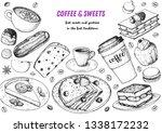 breakfast hand drawn...   Shutterstock .eps vector #1338172232