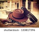 Western Accessories On Wooden...