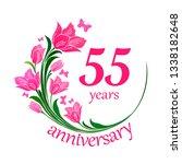 55 years anniversary...   Shutterstock .eps vector #1338182648