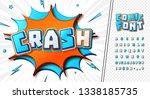 3d cartoon alphabet in comics... | Shutterstock .eps vector #1338185735