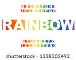 rainbow vector of stylized... | Shutterstock .eps vector #1338203492