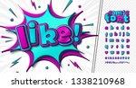 3d cartoon alphabet in comics... | Shutterstock .eps vector #1338210968