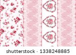 seamless fabric pattern with... | Shutterstock . vector #1338248885