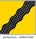 flag town juodupe. lithuania | Shutterstock . vector #1338251288
