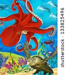 the coral reef   illustration... | Shutterstock . vector #133825496