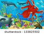 the coral reef   illustration... | Shutterstock . vector #133825502