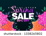 special spring sale 50  off... | Shutterstock . vector #1338265802