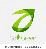 green leaf nature concept | Shutterstock .eps vector #133826612