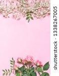 fresh flowers composition as... | Shutterstock . vector #1338267005