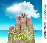 finger family travels at the... | Shutterstock . vector #133827062