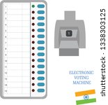 electronic voting machine india | Shutterstock .eps vector #1338303125