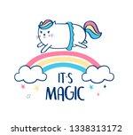 sweet unicorn illustration...   Shutterstock .eps vector #1338313172
