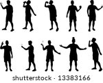 drinking silhouettes   Shutterstock .eps vector #13383166