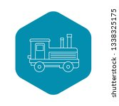 locomotive icon. outline... | Shutterstock .eps vector #1338325175