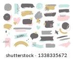 hand drawn design elements.... | Shutterstock .eps vector #1338335672