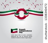 kuwait independence day flag... | Shutterstock .eps vector #1338340472