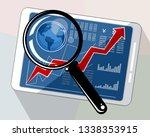 vector illustration of a tablet ... | Shutterstock .eps vector #1338353915