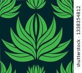 vector seamless floral pattern... | Shutterstock .eps vector #1338354812