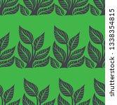 vector seamless floral pattern... | Shutterstock .eps vector #1338354815