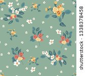 seamless pattern with small... | Shutterstock .eps vector #1338378458