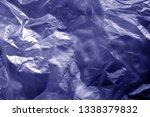 crumpled transparent plastic ... | Shutterstock . vector #1338379832